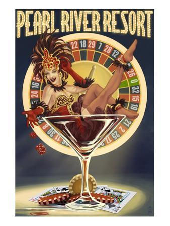 Tunica, Mississippi - Casino Pinup Girl by Lantern Press