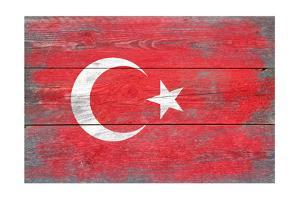 Turkey Country Flag - Barnwood Painting by Lantern Press
