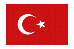 Turkey Country Flag - Letterpress by Lantern Press