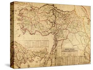 Turkey, Ottoman Empire - Panoramic Map by Lantern Press