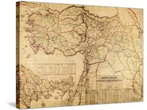 Turkey, Ottoman Empire - Panoramic Map by Lantern Press