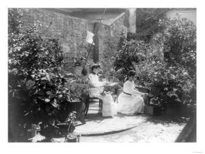 Two Women in their Garden in Cuba Photograph - Cuba by Lantern Press