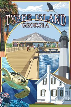 Tybee Island, Georgia - Montage by Lantern Press
