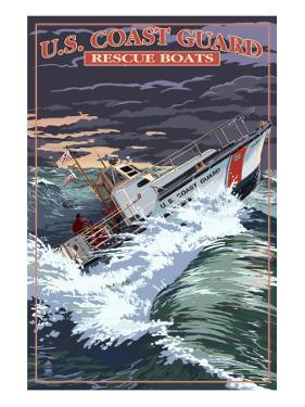 U.S. Coast Guard - 44 Foot Motor Life Boat by Lantern Press
