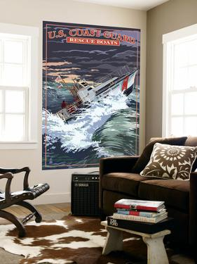 U.S. Coast Guard - 44 Foot Motor Life Boat by Lantern Press