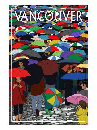 Umbrellas - Vancouver, BC by Lantern Press