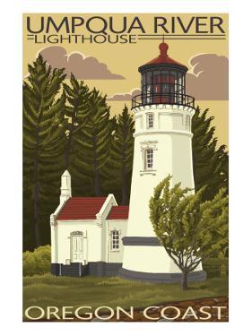 Umpqua River Lighthouse - Oregon by Lantern Press