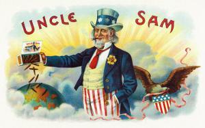 Uncle Sam Brand Cigar Inner Box Label by Lantern Press