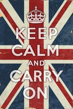 Union Jack - Keep Calm and Carry On by Lantern Press