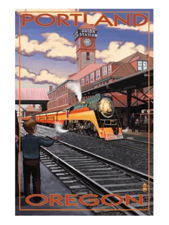 Union Train Station - Portland, Oregon by Lantern Press