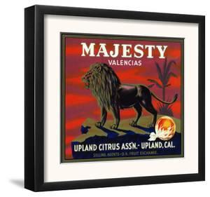 Upland, California, Majesty Brand Citrus Label by Lantern Press