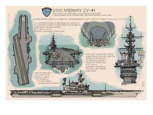 USS Midway Technical - San Diego, CA by Lantern Press