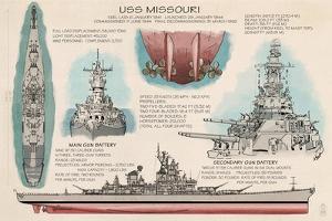 USS Missouri - Techinical by Lantern Press