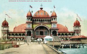 Utah, Entrance View of the Saltair Pavilion at the Great Salt Lake by Lantern Press