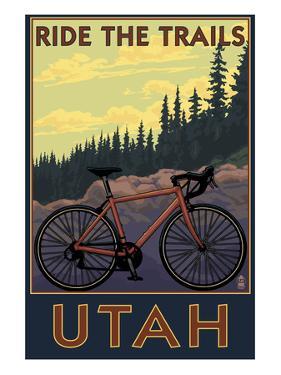 Utah - Mountain Bike Scene by Lantern Press