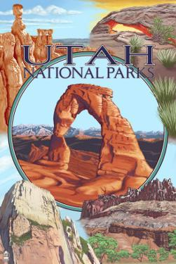 Utah National Parks - Delicate Arch Center by Lantern Press
