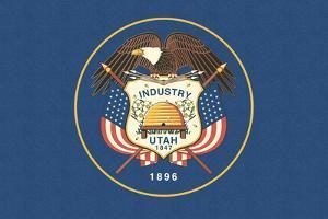 Utah State Flag by Lantern Press