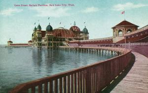 Utah, View of the Great Salt Lake Front from the Saltair Pavilion Boardwalk by Lantern Press