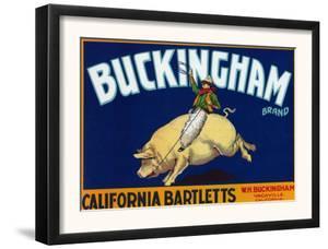 Vacaville, California, Buckingham Brand Pear Label by Lantern Press