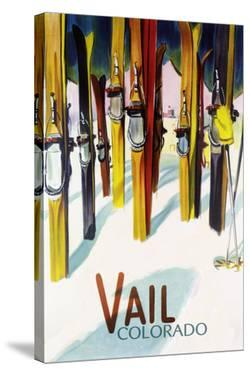 Vail, CO - Colorful Skis by Lantern Press