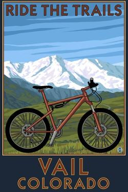 Vail, Colorado - Ride the Trails, Mountain Bike by Lantern Press