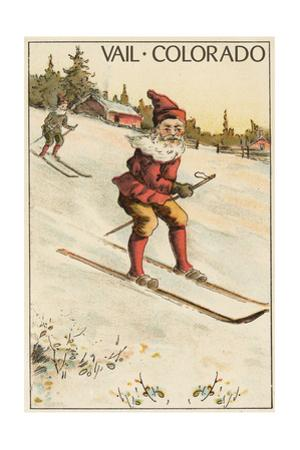 Vail, Colorado - Santa Skiing by Lantern Press