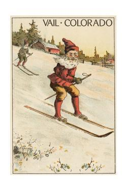 Vail, Colorado - Santa Skiing by Lantern Press