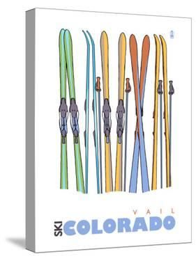 Vail, Colorado, Skis in the Snow by Lantern Press
