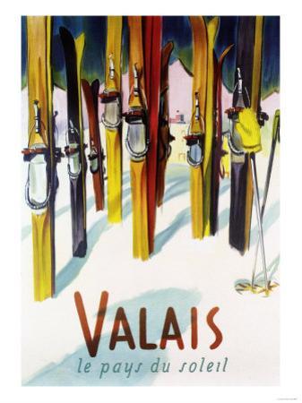 Valais, Switzerland - The Land of Sunshine by Lantern Press