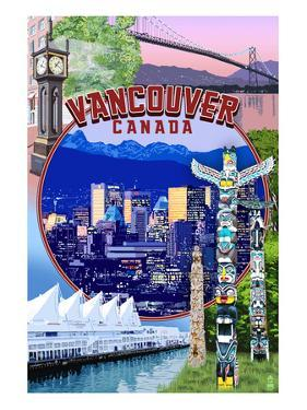 Vancouver, BC - Montage Scenes by Lantern Press