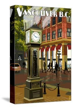 Vancouver, BC - Steam Clock by Lantern Press