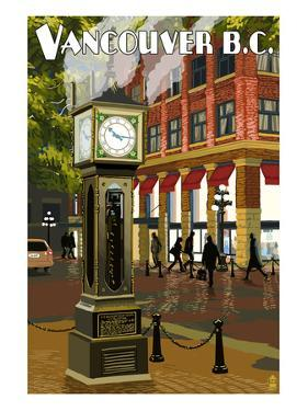 Vancouver, BC - Steam Clock by Lantern Press