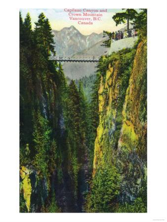 Vancouver, Canada - Capilano Canyon View of Crown Mountain by Lantern Press