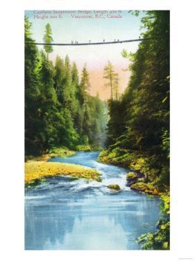 Vancouver, Canada - View of Capilano Suspension Bridge No. 2 by Lantern Press