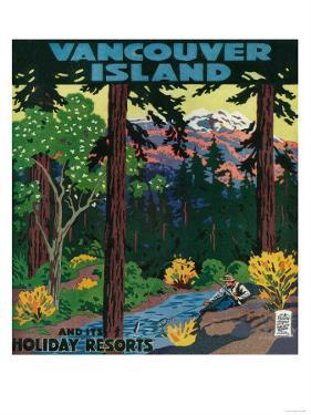 Vancouver Island Advertising Poster - Vancouver Island, Canada by Lantern Press