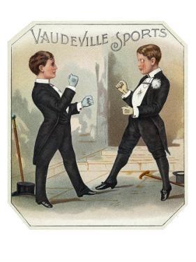 Vaudeville Sports Brand Cigar Box Label by Lantern Press