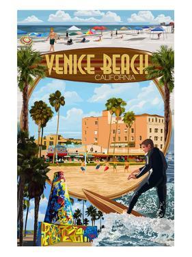 Venice Beach, California - Montage Scenes by Lantern Press