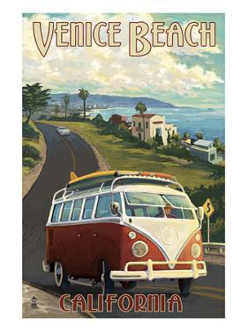 Venice Beach, California - VW Van Cruise by Lantern Press