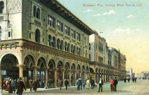 Venice, California - Western View Down Windward Avenue by Lantern Press