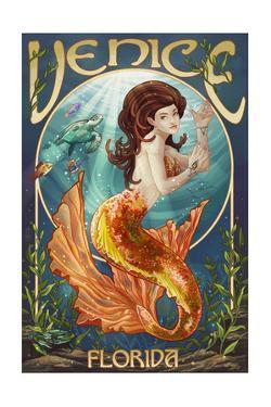 Venice, Florida - Mermaid by Lantern Press