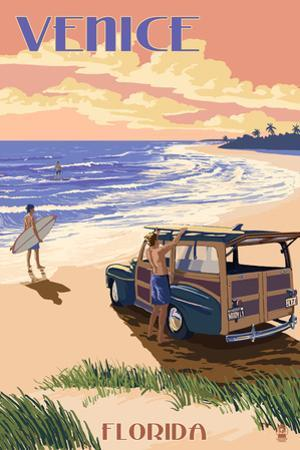 Venice, Florida - Woody on the Beach by Lantern Press