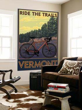 Vermont - Bicycle Scene by Lantern Press