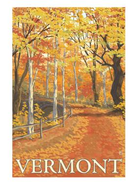 Vermont, Fall Colors Scene by Lantern Press
