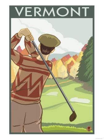 Vermont - Golfing Scene by Lantern Press