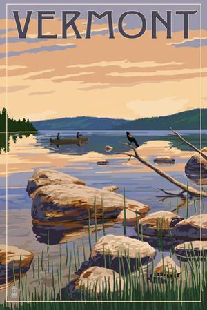 Vermont - Lake Sunrise Scene by Lantern Press