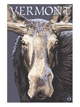 Vermont - Moose Up Close by Lantern Press