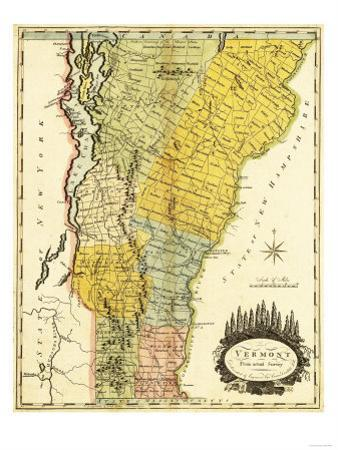 Vermont - Panoramic Map by Lantern Press