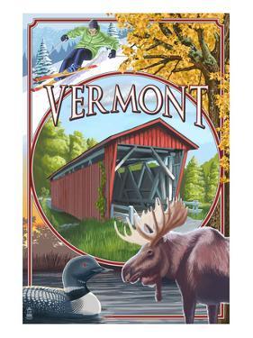 Vermont Scenes by Lantern Press