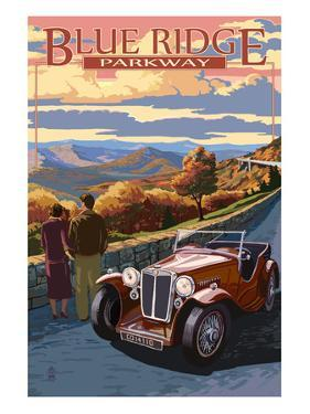 Viaduct Scene at Sunset - Blue Ridge Parkway by Lantern Press