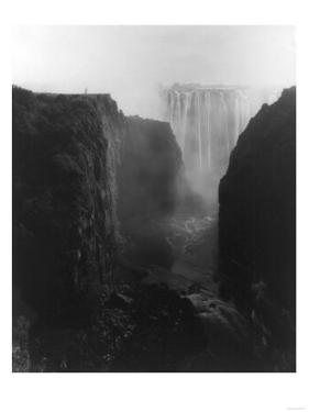 Victoria Falls in Rhodesia Photograph - Rhodesia by Lantern Press